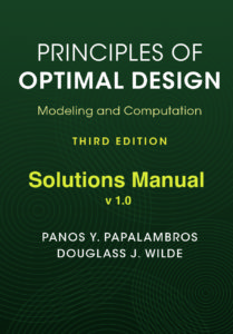 Principles of optimal design modeling and computation get the solutions manual fandeluxe Image collections